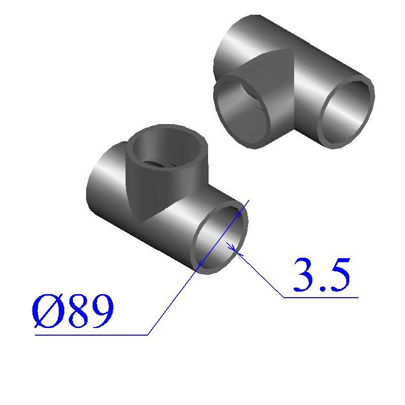 Тройник 89х3,5-76х3,5