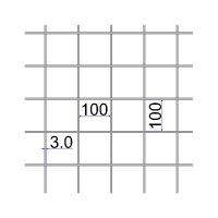 Сетка сварная 100х100х3 размер карты 2х3