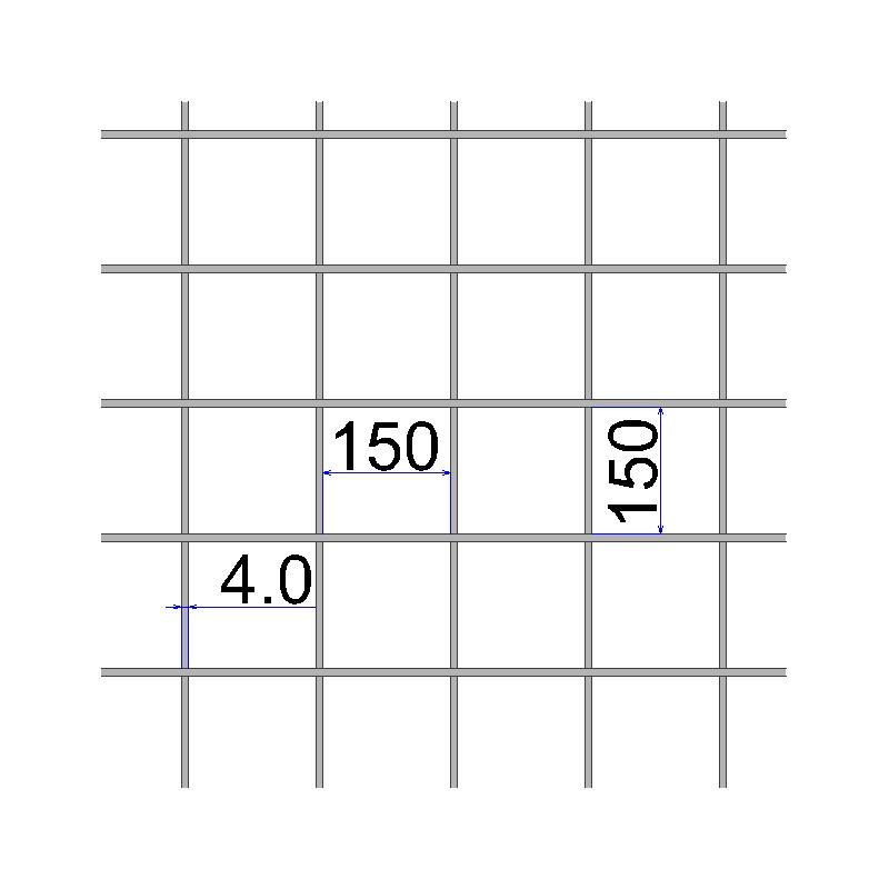 Сетка сварная 150х150х4 размер карты 2х3