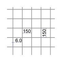 Сетка сварная 150х150х6 А500С размер карты 2х6