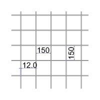 Сетка сварная 150х150х12 А500C размер карты 2х6