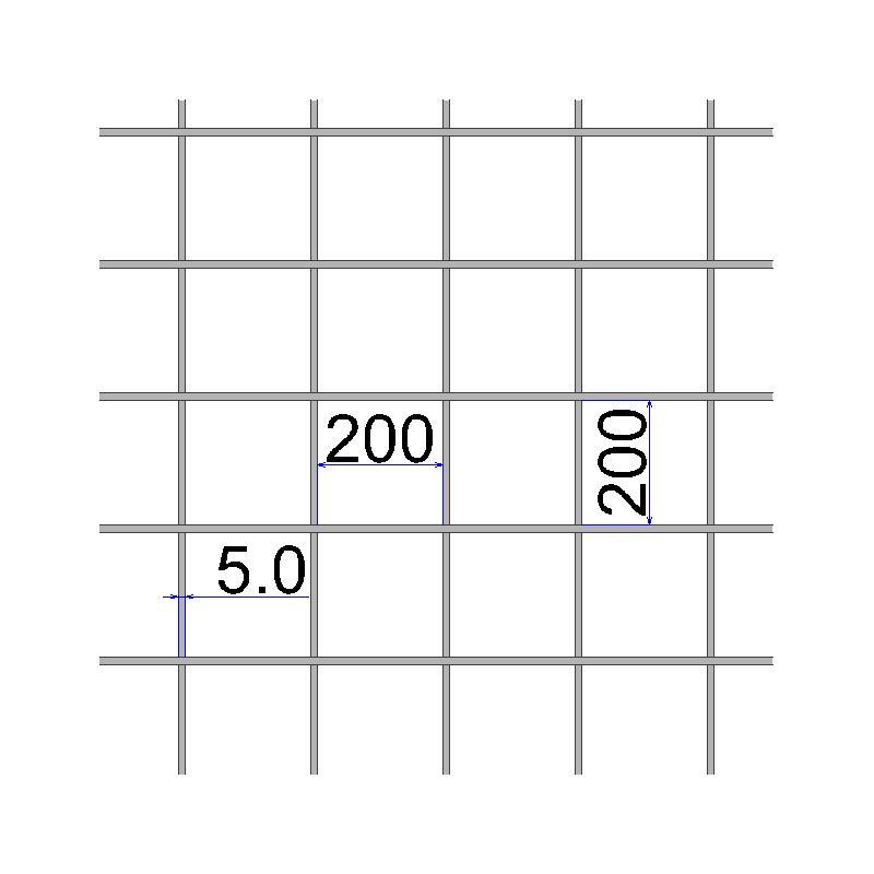 Сетка сварная 200х200х5 размер карты 2х3