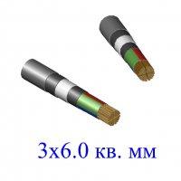 Кабель ВБбШв 3х6,0 кв.мм (ож)-0,66