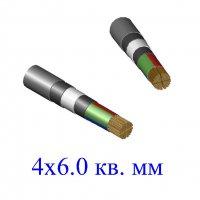 Кабель ВБбШв 4х6,0 кв.мм (ож)-0,66