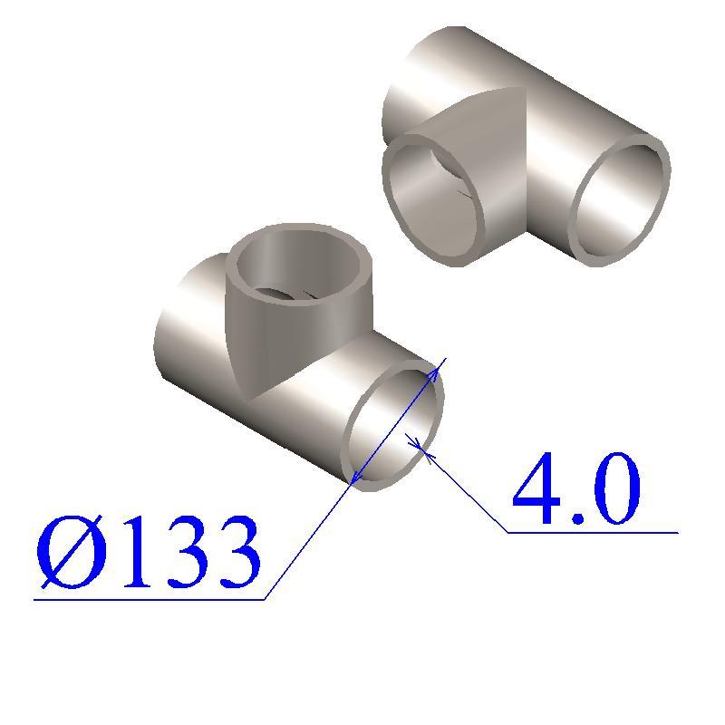 Тройник оцинкованный 133х4-89х3,5