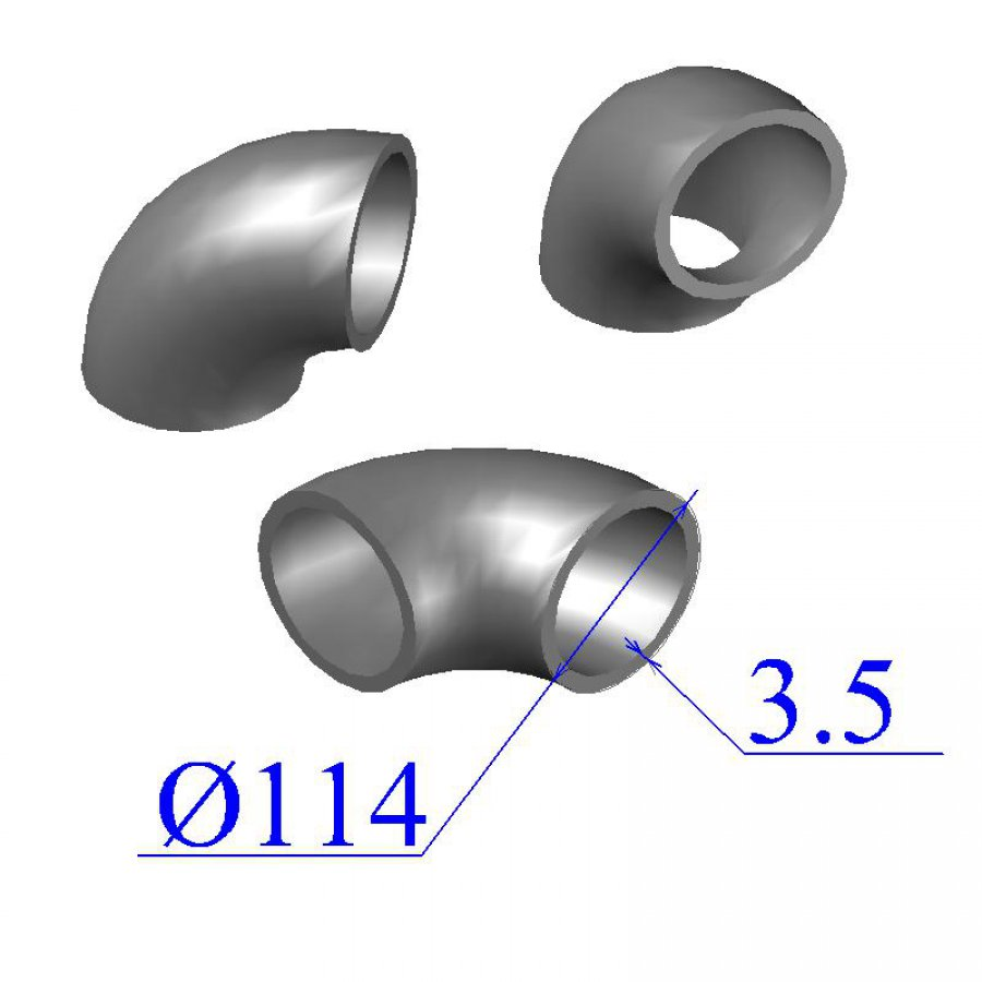 Отводы стальные 114х3,5