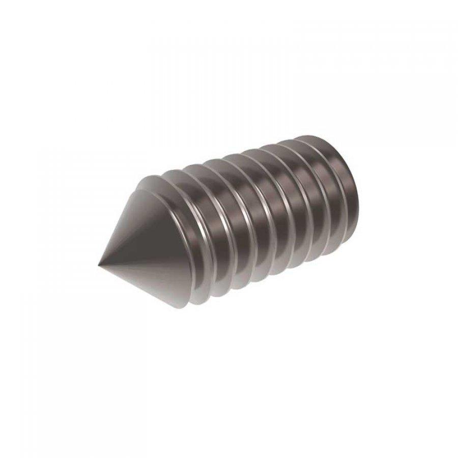Винт установочный острый конец внутр/шестигранник M 12х25 DIN 914 А2