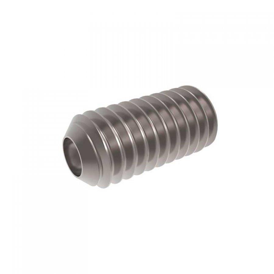 Винт установочный внутр/шестигранник засверл/острие M 8х10 DIN 916 А2