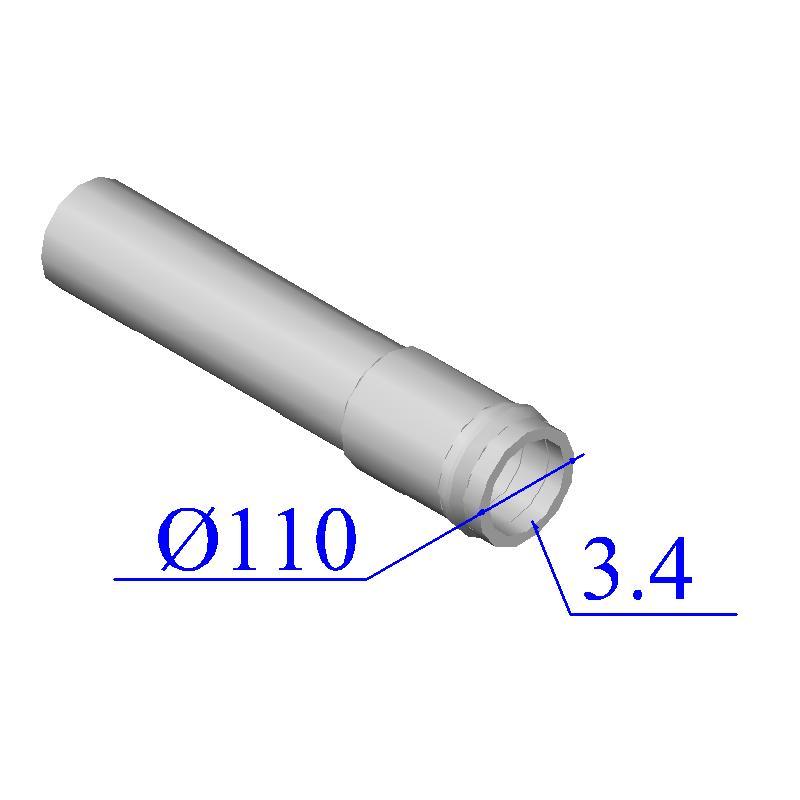 Труба НПВХ напорная 110х3,4