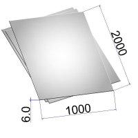 Лист стальной нержавеющий AISI 304 г/к 6х1000х2000