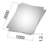 Лист стальной нержавеющий AISI 304 х/к 1.2х1000х2000