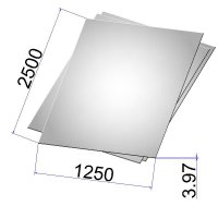 Лист стальной нержавеющий AISI 304 х/к 3.97х1250х2500