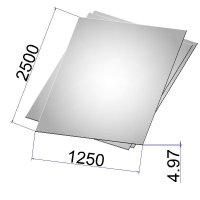 Лист стальной нержавеющий AISI 304 х/к 4.97х1250х2500