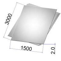 Лист стальной нержавеющий AISI 304 х/к шлифованный 2х1500х3000 grit 320
