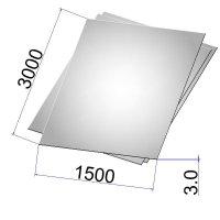 Лист стальной нержавеющий AISI 304 х/к шлифованный 3х1500х3000 grit 320