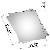 Лист стальной нержавеющий AISI 316L х/к зеркальный в пленке 2х1250х2500