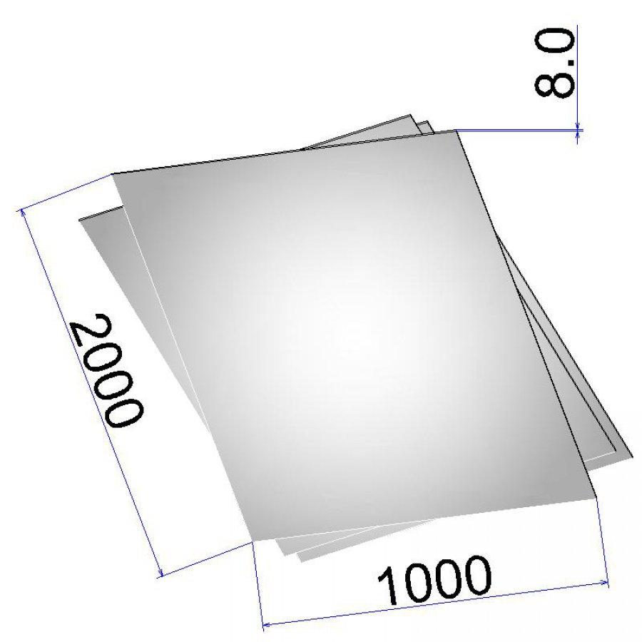 Лист стальной нержавеющий AISI 316Ti г/к 8х1000х2000