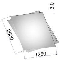 Лист стальной нержавеющий AISI 316Ti х/к 3х1250х2500