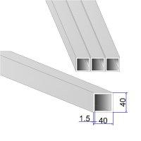 Труба квадратная AISI 304 DIN 2395 зеркальная 40х40х1.5