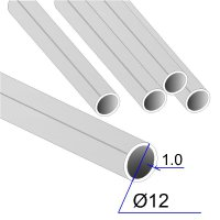 Труба круглая AISI 304 DIN 17457 12х1