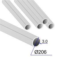 Труба круглая AISI 304 DIN 17457 206х3