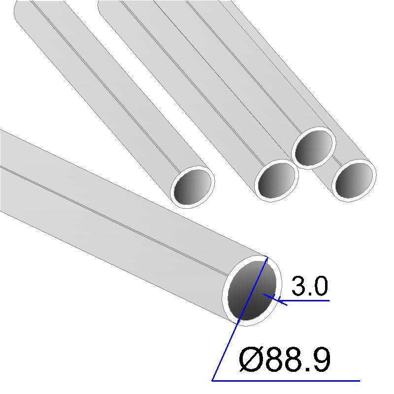 Труба круглая AISI 304 DIN 17457 88.9х3