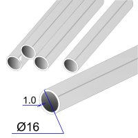 Труба круглая AISI 304 DIN 2463 зеркальная HF 16х1.5