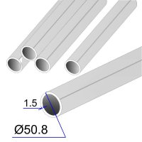 Труба круглая AISI 304 DIN 2463 зеркальная HF 50.8х1.5