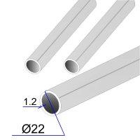 Труба круглая AISI 304 пищевая DIN 11850 22х1.2