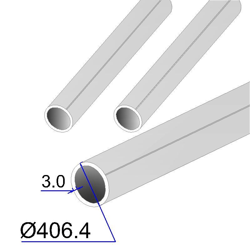 Труба круглая AISI 304L EN 10217-7 406.4х3