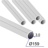 Труба круглая AISI 304 DIN 17457 159х3 (Италия)