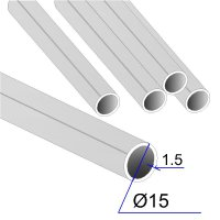 Труба круглая AISI 304 DIN 17457 15х1.5 (Италия)