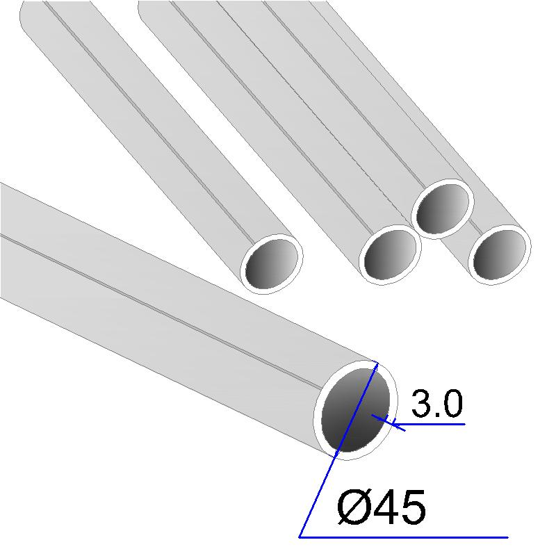 Труба круглая AISI 304 DIN 17457 45х3 (Италия)