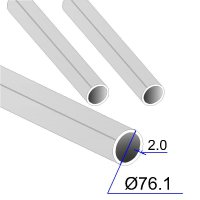Труба круглая AISI 316Ti EN 10217-7 76.1х2 (Италия)