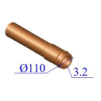 Труба НПВХ 110х3,2 для наружной канализации