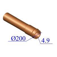 Труба НПВХ 200х4,9 для наружной канализации