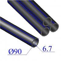 Труба ПНД D 90х6,7 напорная ПЭ 80
