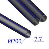 Труба ПНД D 200х7,7 напорная ПЭ 80