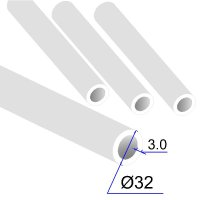 Труба ПП D 32х3,0 PPR