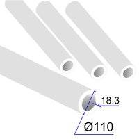 Труба ПП D 110х18,3 PPRC