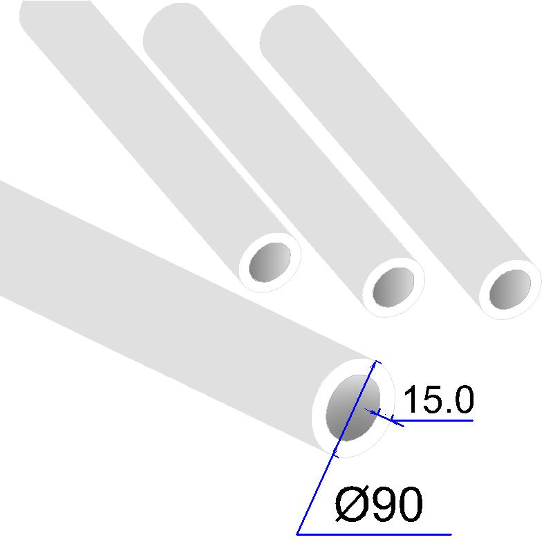 Труба ПП D 90х15,0 Армированная стекловолокном