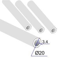 Труба ПП D 20х3,4 Армированная алюминиевой фольгой