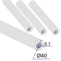 Труба ПП D 40х6,7 Армированная алюминиевой фольгой