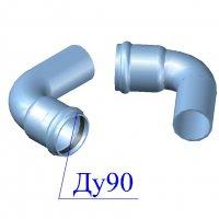 Отвод напорный ПВХ 90х90 гр.