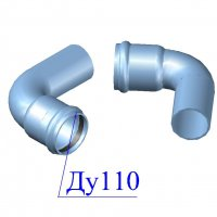 Отвод напорный ПВХ 110х90 гр.