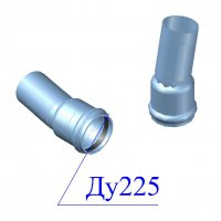 Отвод напорный ПВХ 225х11 гр.