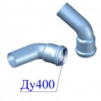 Отвод напорный ПВХ 400х60 гр.