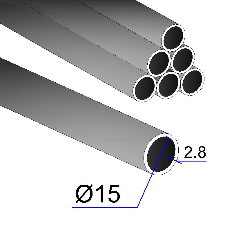 Труба ВГП 15х2,8 оц.