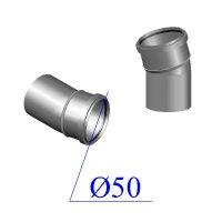 Отвод ПВХ для внутренней канализации 50х15 гр.