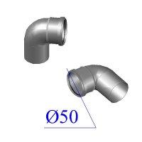 Отвод ПВХ для внутренней канализации 50х87 гр.